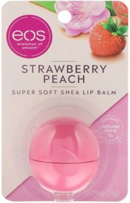 EOS Бальзам для губ Super Soft Shea Lip Balm Strawberry Peach 0.25 oz (7гр)