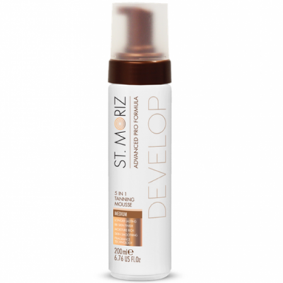 Мус-автозасмага для тіла St.Moriz Advanced Pro Tanning Mousse 5 in 1 Medium, 200 мл