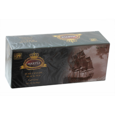 MARTLE Pure ceylon black tea чорный чай с бергамотом в пакетиках 2гр Х 25