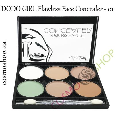 Палитра консилеров для лица, 6 оттенков, DoDo Girl Flawless Face Concealer