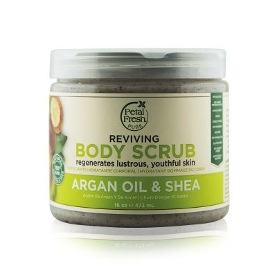 Petal Fresh. Скраб для тіла з маслом арганы и ши. Pure, Argan Oil & Shea Body Scrub, 16 oz (473 ml)