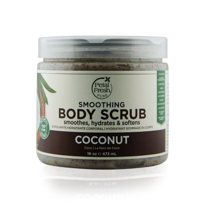 Petal Fresh. Скраб для тела с кокосовым маслом. Pure, Smoothing Body Scrub, Coconut , 16oz (473ml)