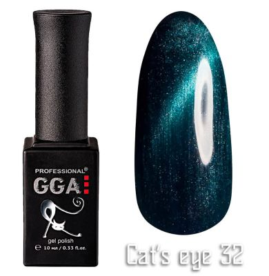 "Гель-лак ""Кошачий глаз"" GGA Professional Cat's Eye - 032"