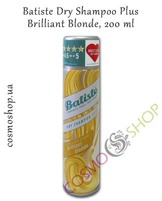 Сухой шампунь для блондинок Batiste Dry Shampoo Plus - Brilliant Blonde, 200 мл